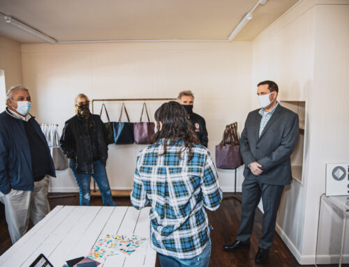 County Executive Neuhaus tours four minority and women-owned businesses in Newburgh